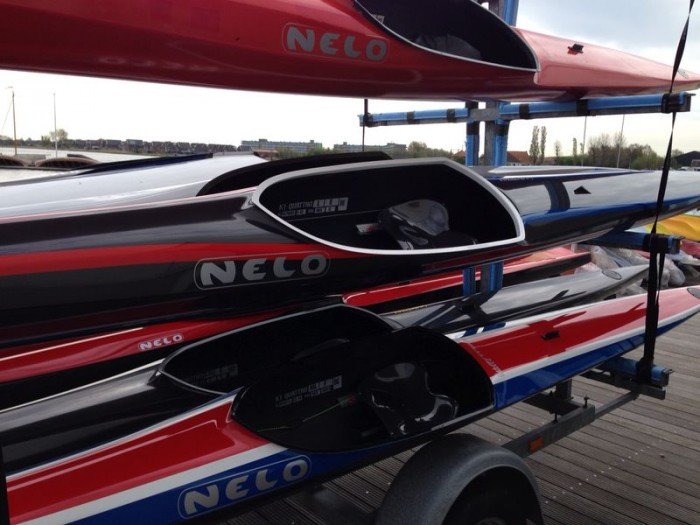 Kayaks for top athletes supplied by official sponsor Nelo