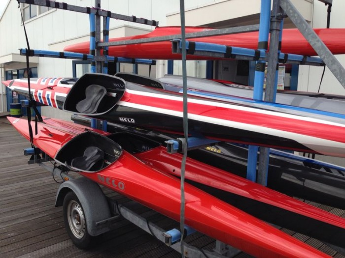 Kayaks for top athletes supplied by sponsorpartner Nelo.